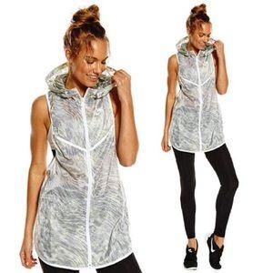 Nike Tech Hyperfuse Volt/Grey Hood Sleeveless Vest